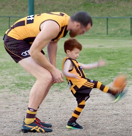 Aspiring Mini Legends take on Hawks' biggest star